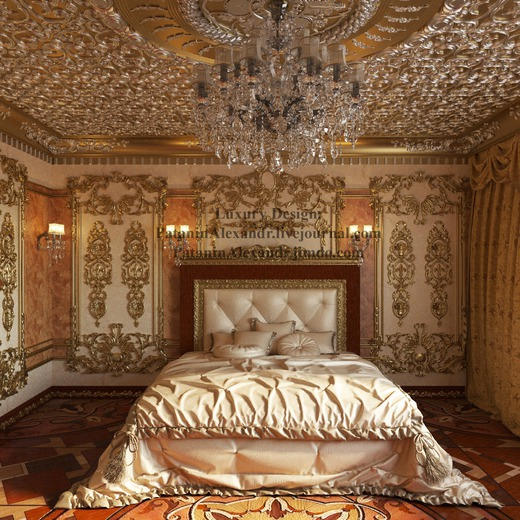 Luxury Arabic Bedroom. Спальня
